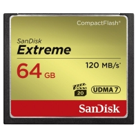 SanDisk Extreme CompactFlash 64GB 120MB/s