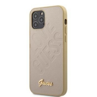 GUHCP12MPUILGLG Guess Iridescent Love Zadní Kryt pro iPhone 12/12 Pro 6.1 Gold