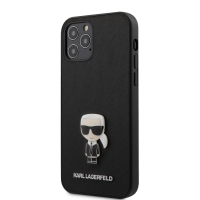 Karl Lagerfeld Saffiano Iconic Kryt pro iPhone 12/12 Pro 6.1 Black KLHCP12MIKMSBK