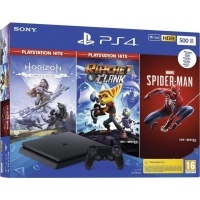 PS4 500GB + Marvels Spider/HZN/R&C