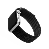 Nylonový řemínek FIXED Nylon Strap pro Apple Watch 40mm/ Watch 38mm, černý