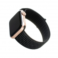 Nylonový řemínek FIXED Nylon Strap pro Apple Watch 44mm/ Watch 42mm, reflexně černý