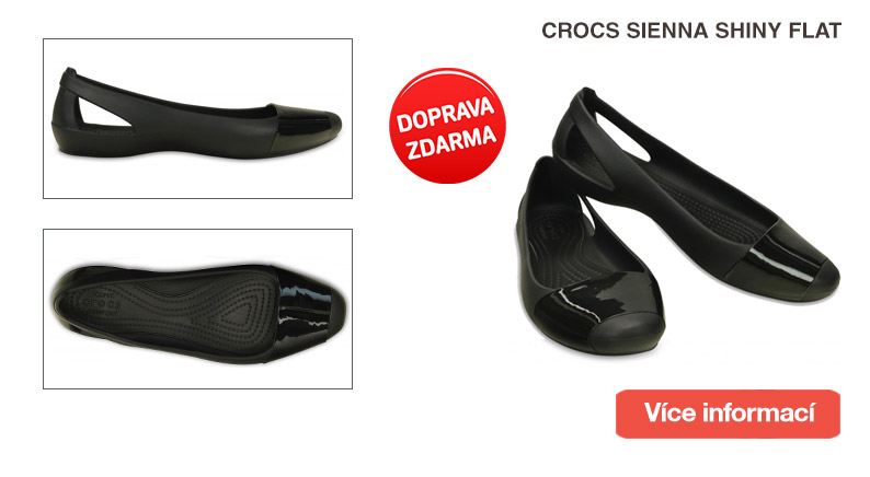 Crocs Sienna Shiny Flat Black