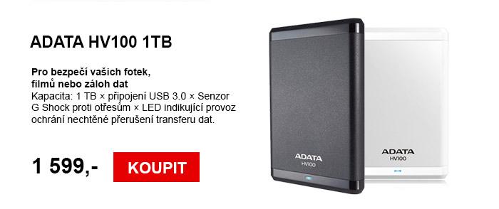Externí disk ADATA HV100 1TB