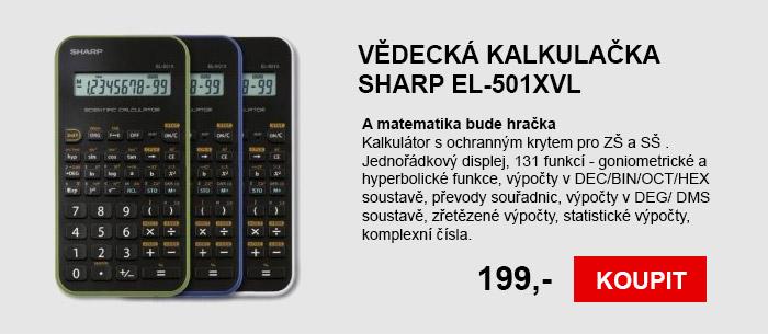 Vědecká kalkulačka SHARP EL-501XVL
