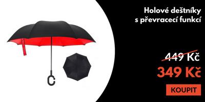 Holový deštník s funkcí převracení
