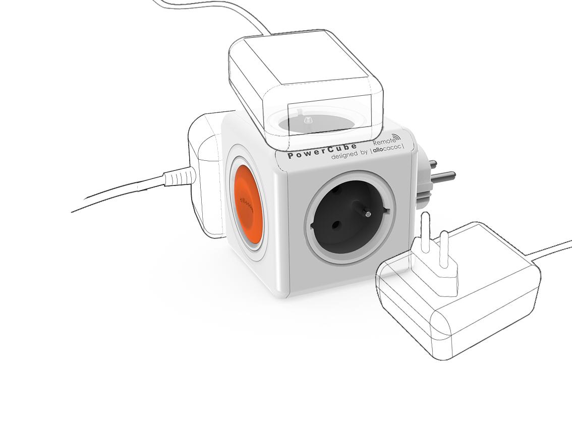 Spínaná zásuvka PowerCube Remote bez omezení