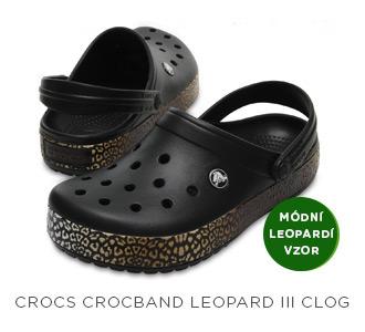 Crocs Crocband Leopard III Clog