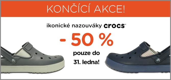 570872976b3 Připomínáme končící akci -50 %! Plus finální navýšení Crocs výprodeje.