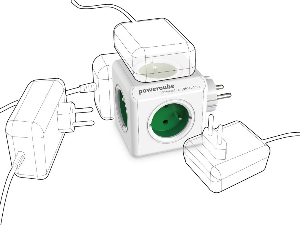 Rozbočovač elektrického proudu PowerCube Original bez omezení