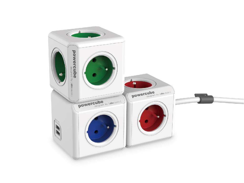 Rozbočovač elektrického proudu PowerCube Original USB s možností rozšíření