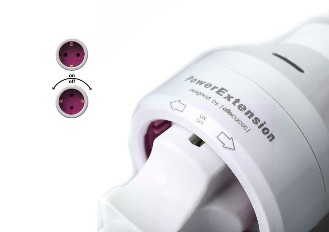 Prodlužovačka PowerCube PowerExtension s LED indikátorem zapnutí