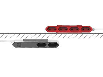 Rozbočovač elektrického proudu PowerCube Powerbar umístíte kdekoliv