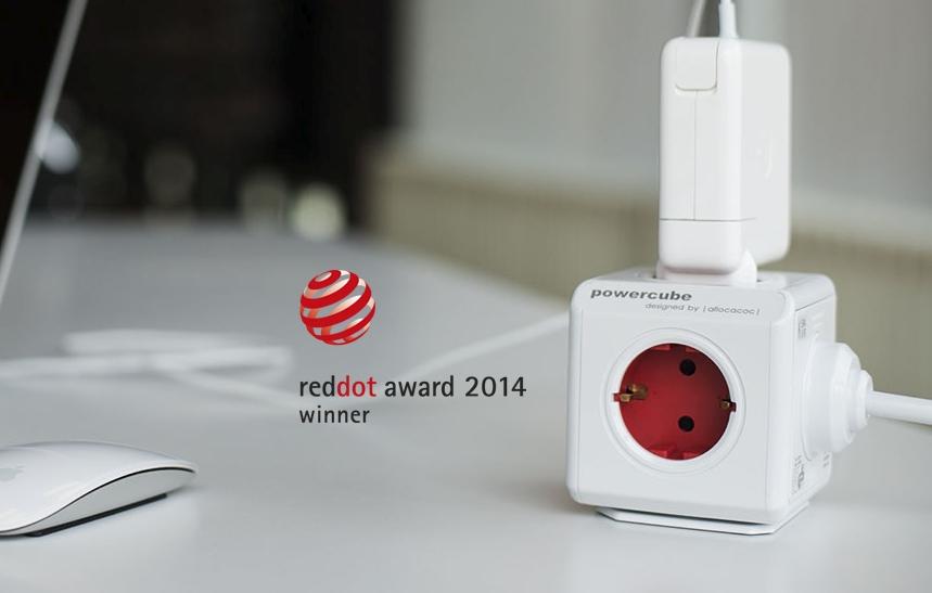 Rozbočovač elektrického proudu PowerCube Original s oceněním za design Red Dot