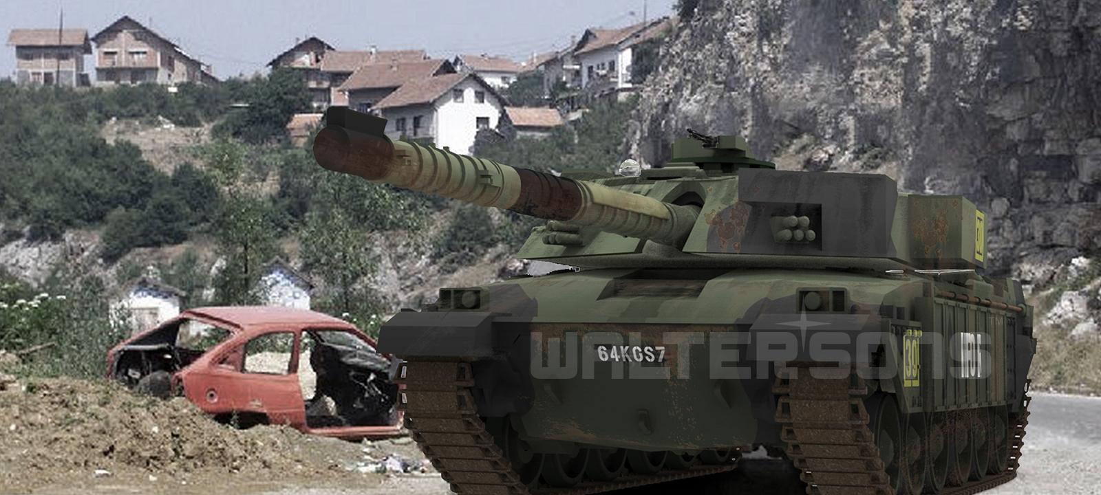 RC tank Waltersons British Challenger 1 NATO