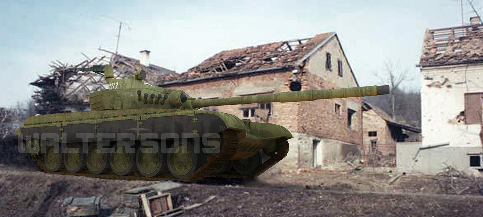 RC tank Waltersons M-84 NATO 1/72