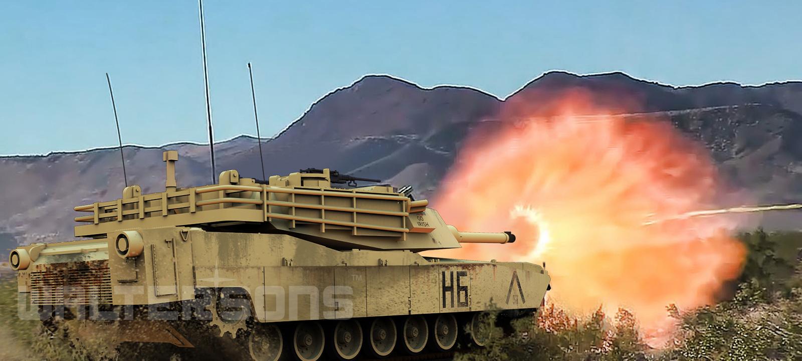 RC tank Waltersons US M1A1 Abrams Desert Yellow