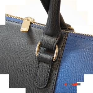 Kabelka Armani Jeans Borsa Shopping Bag Royal Blue v pevném provedení