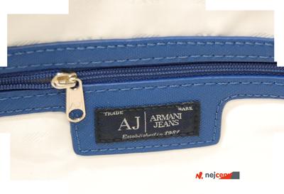 Kabelka Armani Jeans Borsa Shopping Bag Royal Blue s vnitřní kapsou na zip