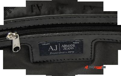 Armani Jeans Shopping Bag With Charms s vnitřní kapsou na zip
