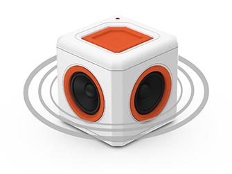 Přenosný Bluetooth reproduktor PowerCube audioCube s 360° ozvučením