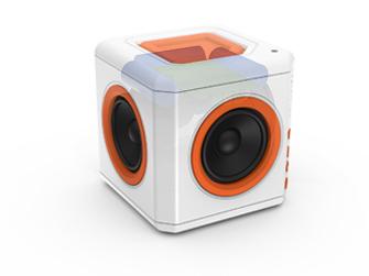 Bezdrátový Bluetooth reproduktor PowerCube audioCube Portable se zabudovanou baterií