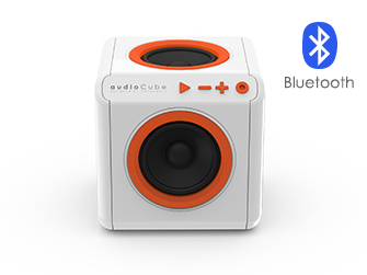 Přenosný Bluetooth reproduktor PowerCube audioCube se snadným ovládáním a připojením