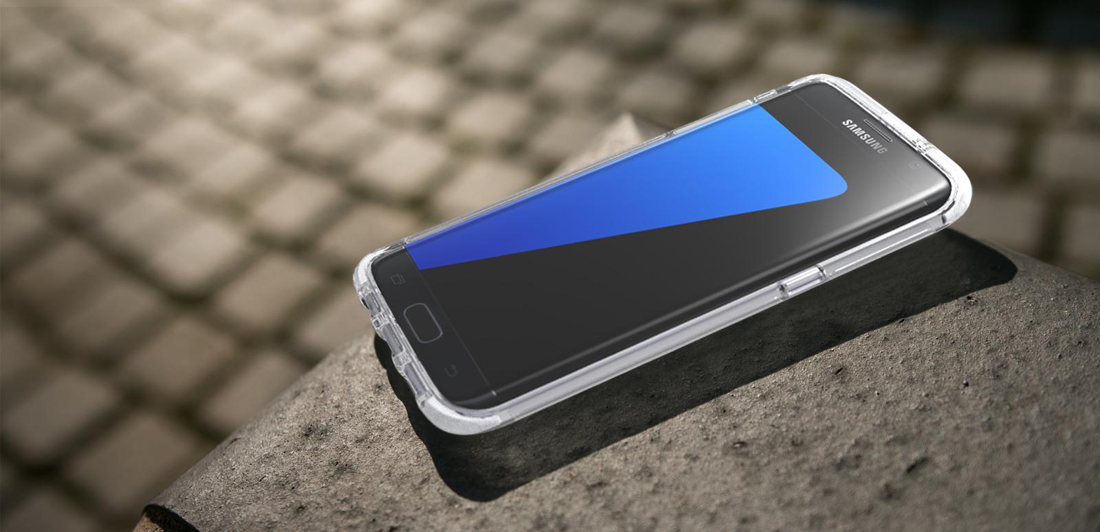 Zadní nárazuvzdorný kryt Tech21 Evo Frame pro Samsung Galaxy S7 Edge