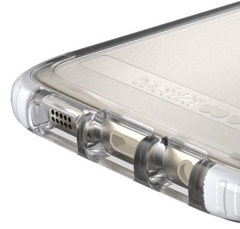 Zadní nárazuvzdorný kryt pro telefon Samsung Galaxy S7 Edge Tech21 Evo Frame s plným přístupem k ovládání