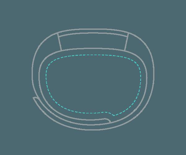 Fitness náramek Fitbit Alta ve velikosti XL (Extra Large)