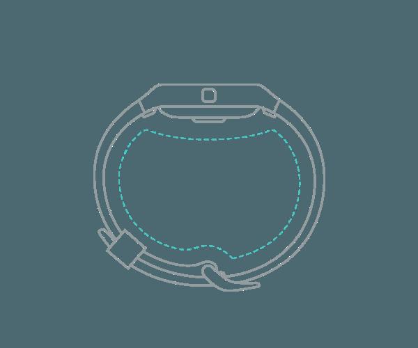 Fitness náramek Fitbit Blaze ve velikosti L (Large)