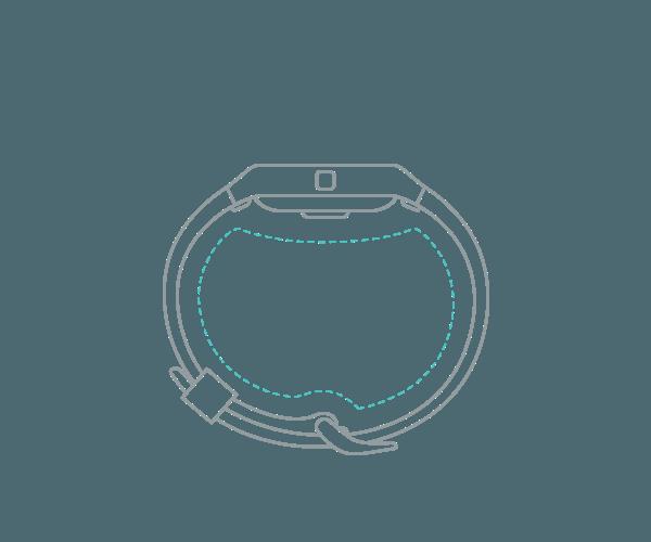Fitness náramek Fitbit Blaze ve velikosti S (Small)