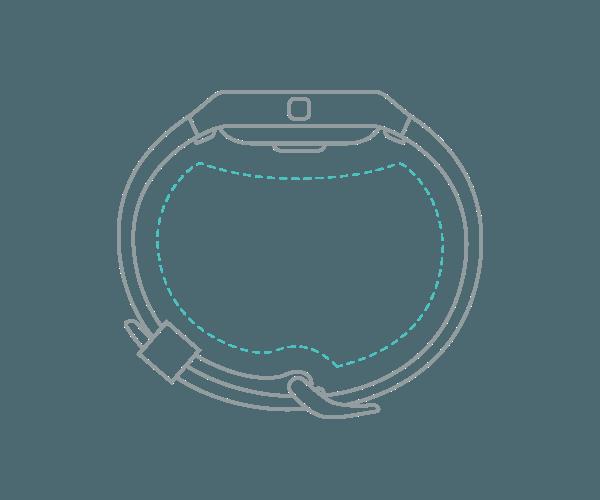 Fitness náramek Fitbit Blaze ve velikosti XL (Extra Large)