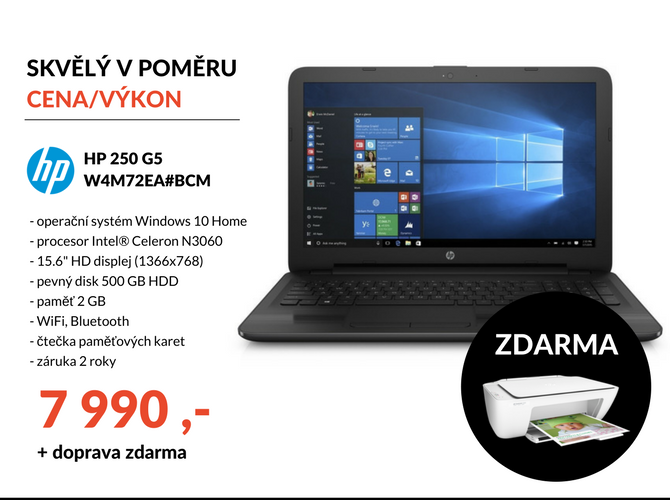 Notebook HP 250 G5 W4M72EA#BCM