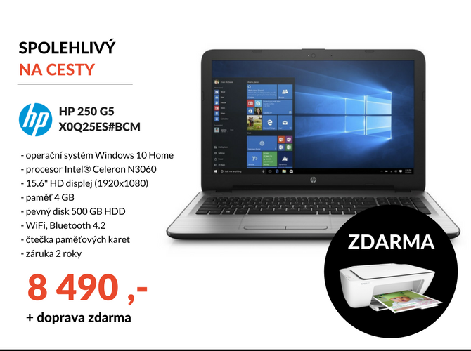 Notebook HP 250 G5 X0Q25ES#BCM