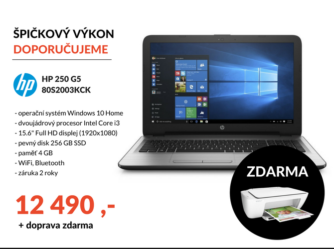 Notebook HP250 G5 80S2003KCK