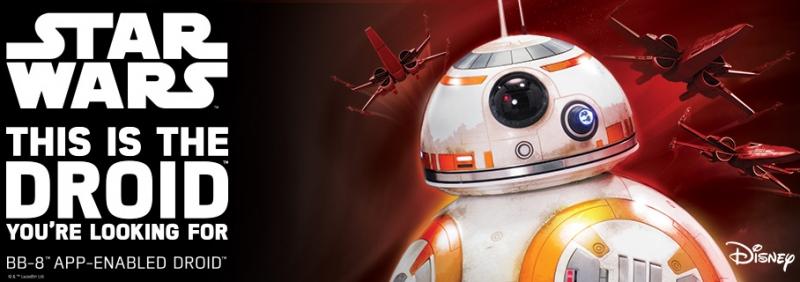 Aplikací kontrolovaný Droid Sphero BB-8