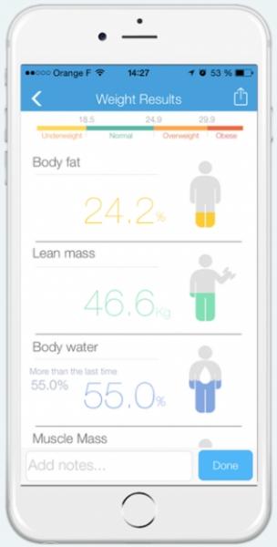 Chytrá odobní váha iHealth CORE HS6 - měření aktivit