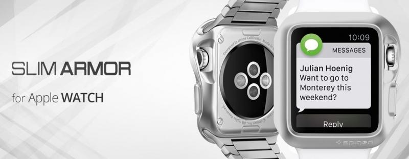 Ochranný kryt Spigen Slim Armor pro Apple Watch 38 mm