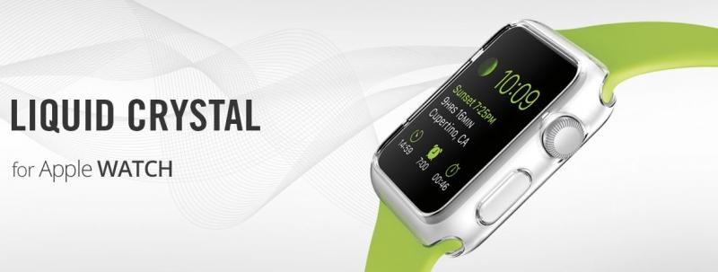 Ochranný kryt ˇSpigen Liquid Crystal pro Apple Watch 42 mm
