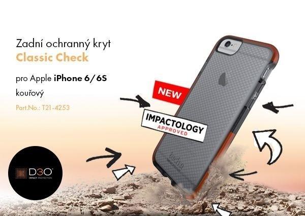 Nárazu vzdorný zadní kryt Tech21 Classic Check pro Apple iPhone 6