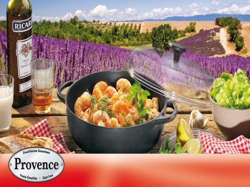 Litinový hrnec se skleněnou poklicí Küchenprofi Provence