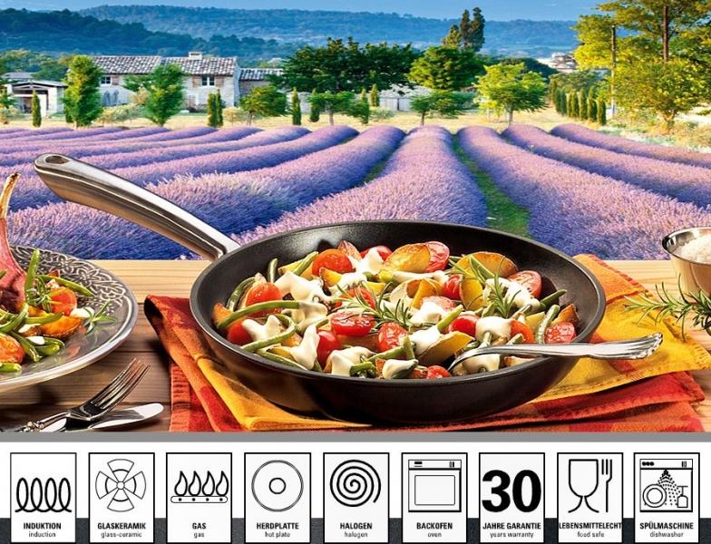 Litinová pánev s nerezovou rukojetí Küchenprofi Provence