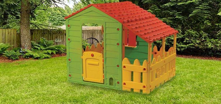 Zahradní domeček Buddy Toys Farm s verandou