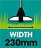 Akumulátorová strunová sekačka Fieldmann FZS 1002-A s šířkou sečení 230 mm
