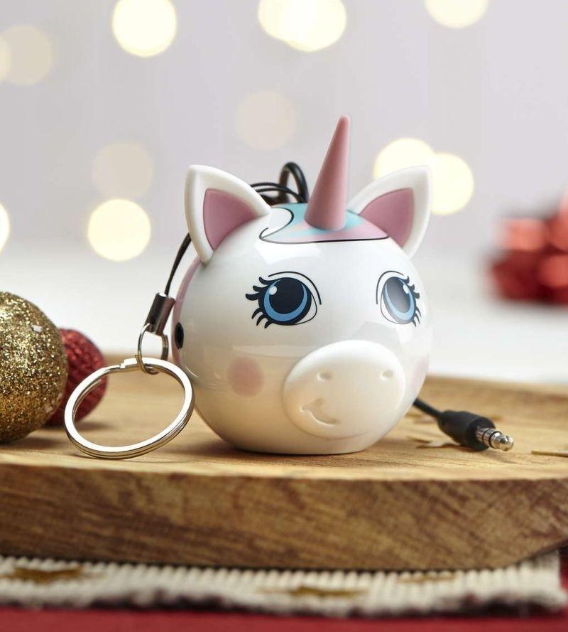 Přenosný reproduktor KitSound Mini Buddy Unicorn s dětským motivem jednorožce