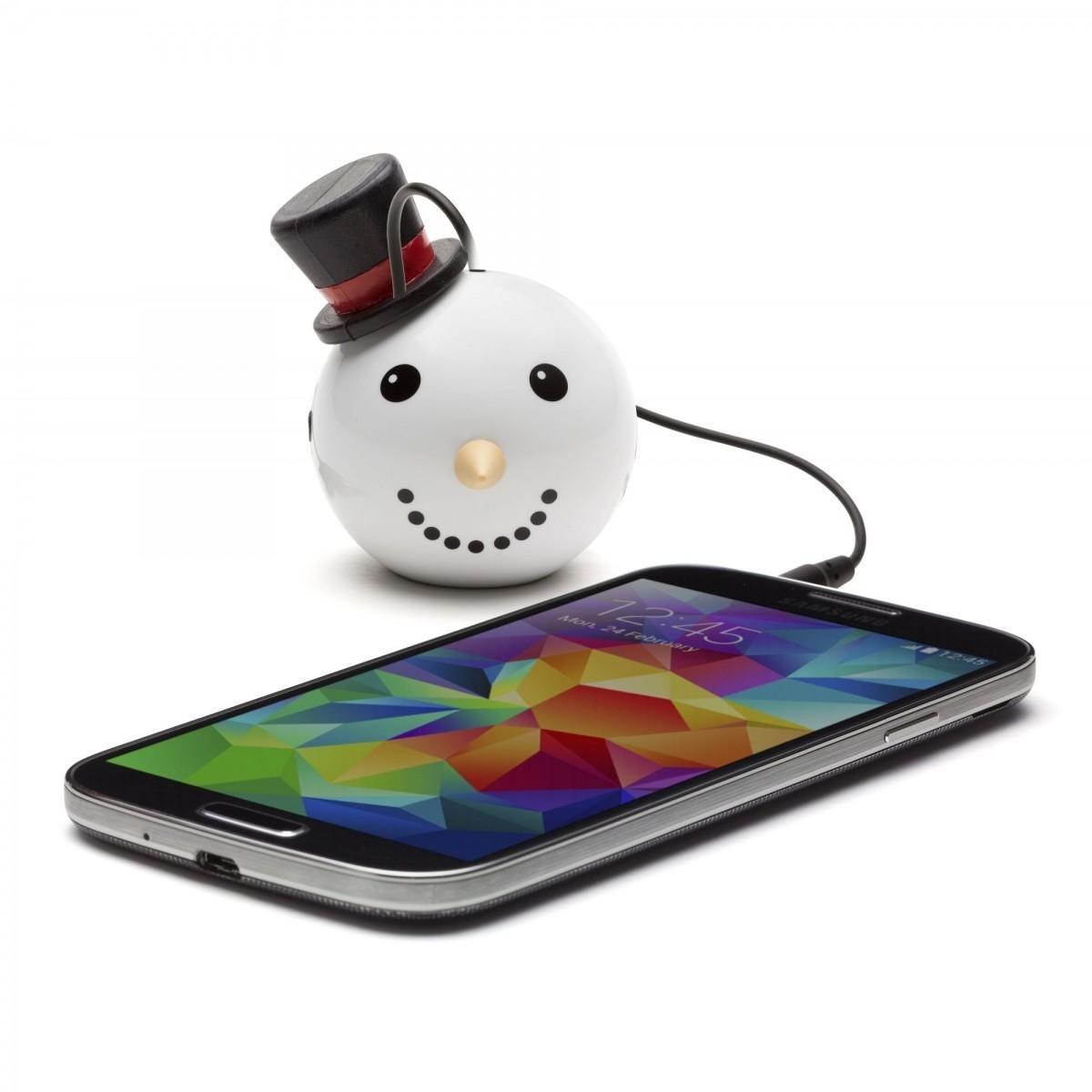 Přenosný reproduktor KitSound Mini Buddy Snowman s dětským motivem sněhuláka