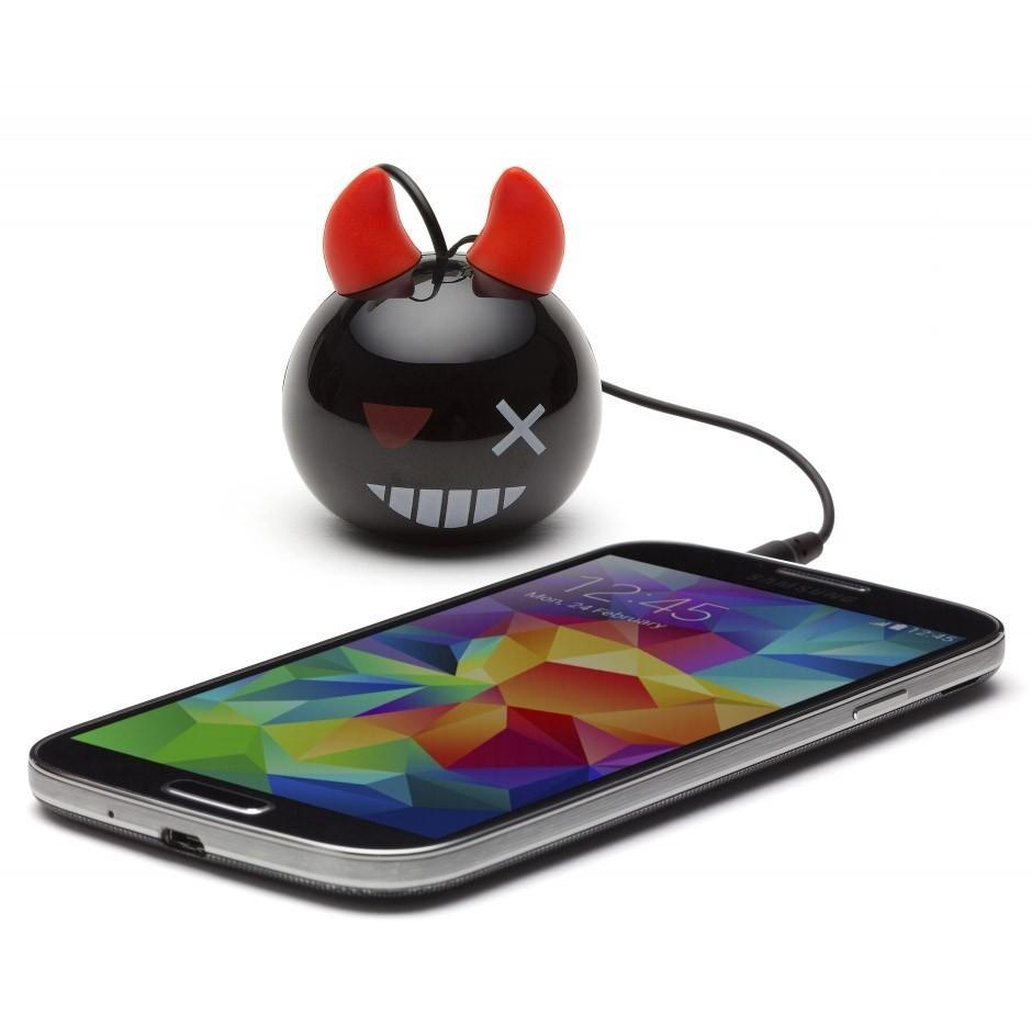 Přenosný reproduktor KitSound Mini Buddy Devil Bomb s dětským motivem ďáblíka