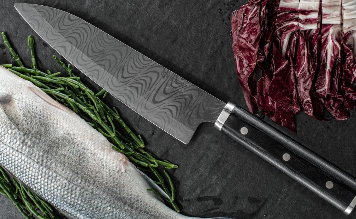 Profesionální keramický nůž Kyocera Kizuna pro práci v kuchyni