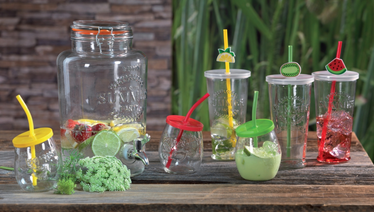Sada letních sklenic s brčkem Ritzenhoff and Breker Cool Summer na Long Drink
